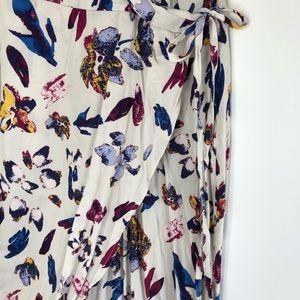 Xhilaration Floral Cold Shoulder Maxi Wrap Dress